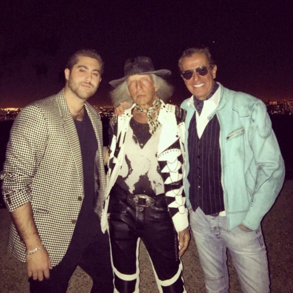 From left to right: Joey Chowaiki (InstaBrand co-founder and community director), Mr. James Goldstein, Jeff Hamilton of Jeff Hamilton Jackets