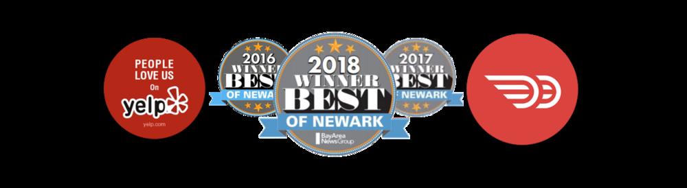 2018 Awards for O' Sushi Newark, CA