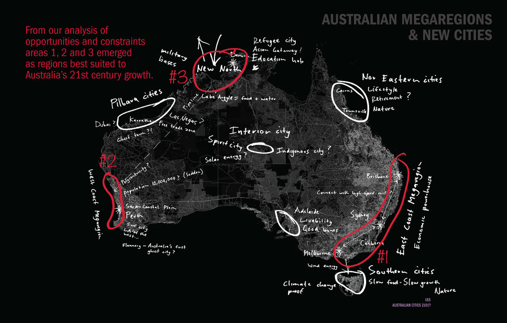 Australian Megaregions and the Cities