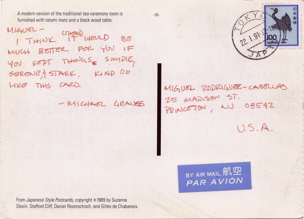 Michael Graves Postcard 004