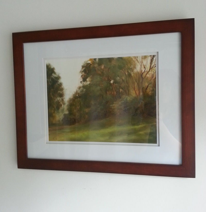 """The Grassy Slope Sketch"" 16""x 20"" in frame."