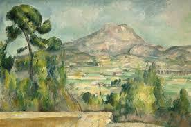 A watercolor by Cezanne
