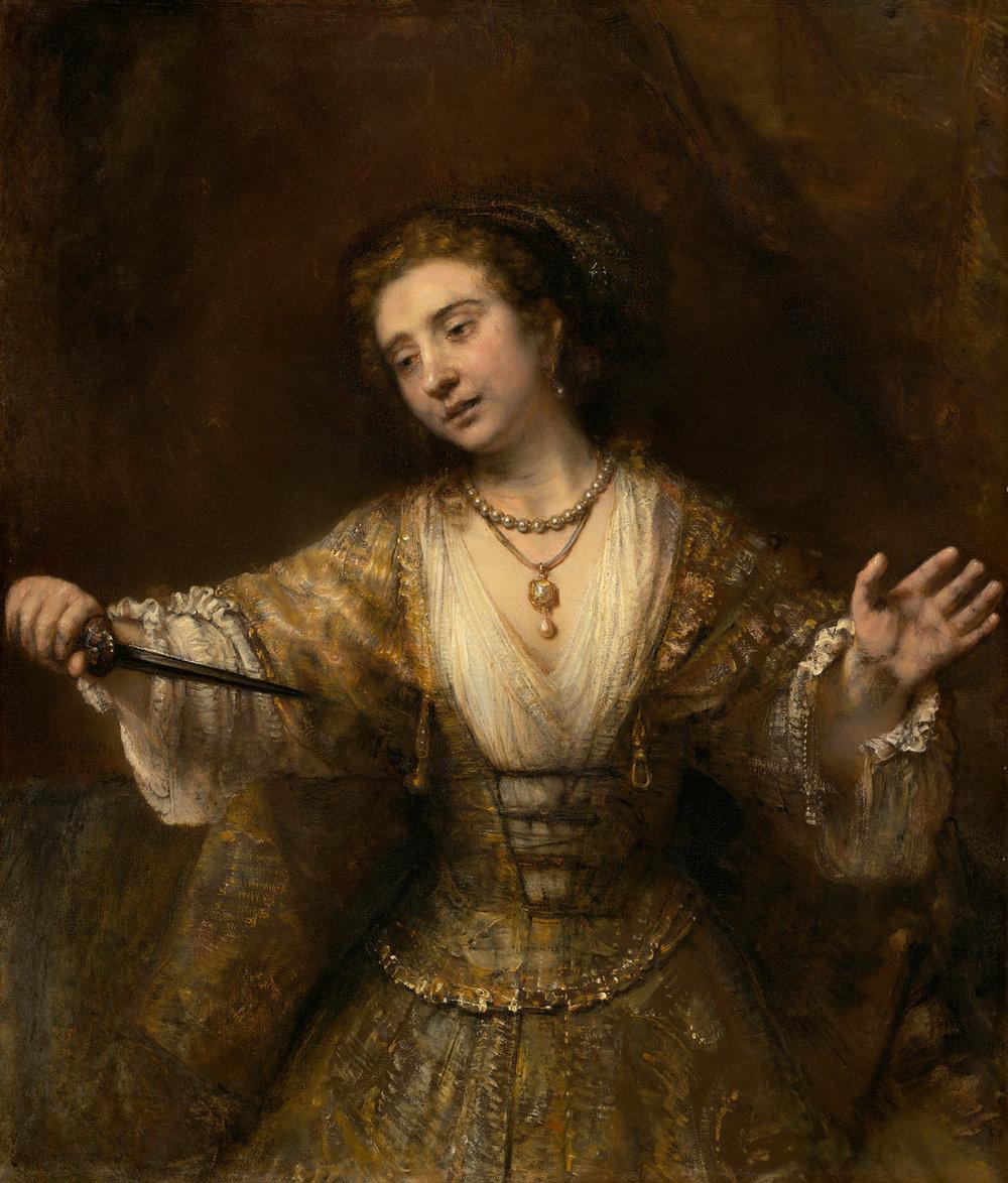 """""""Lucretia"""" by Rembrandt van Rijn"""