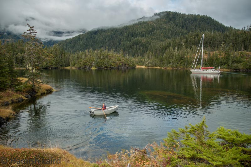 Shallow anchorage in Prince William Sound. Keel and rudder were raised to get here.