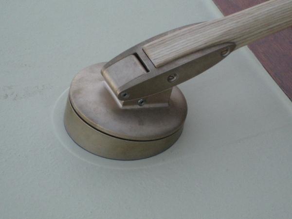 Custom tiller head designed by Andy Payor.