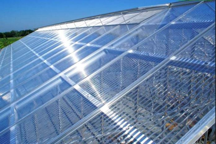Polycarbonate panels for the  roof structure