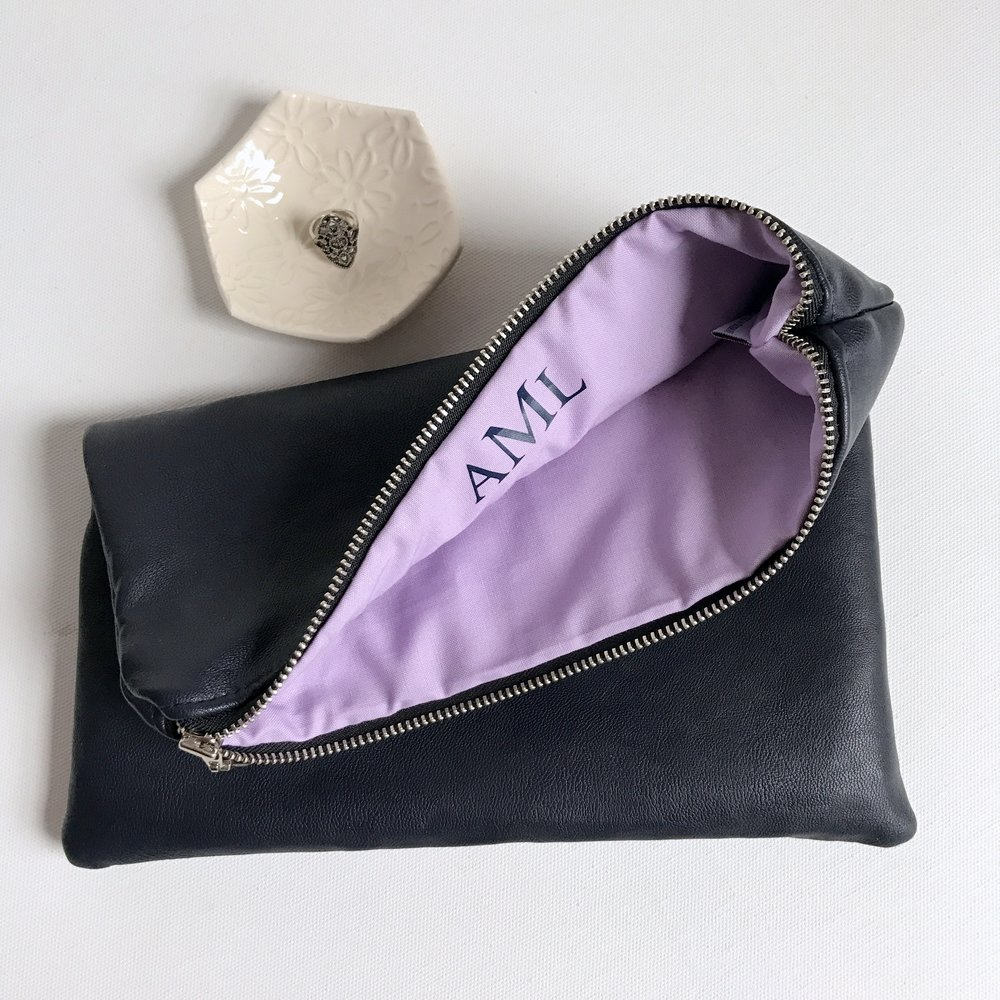 Monogram Fold Over Clutch