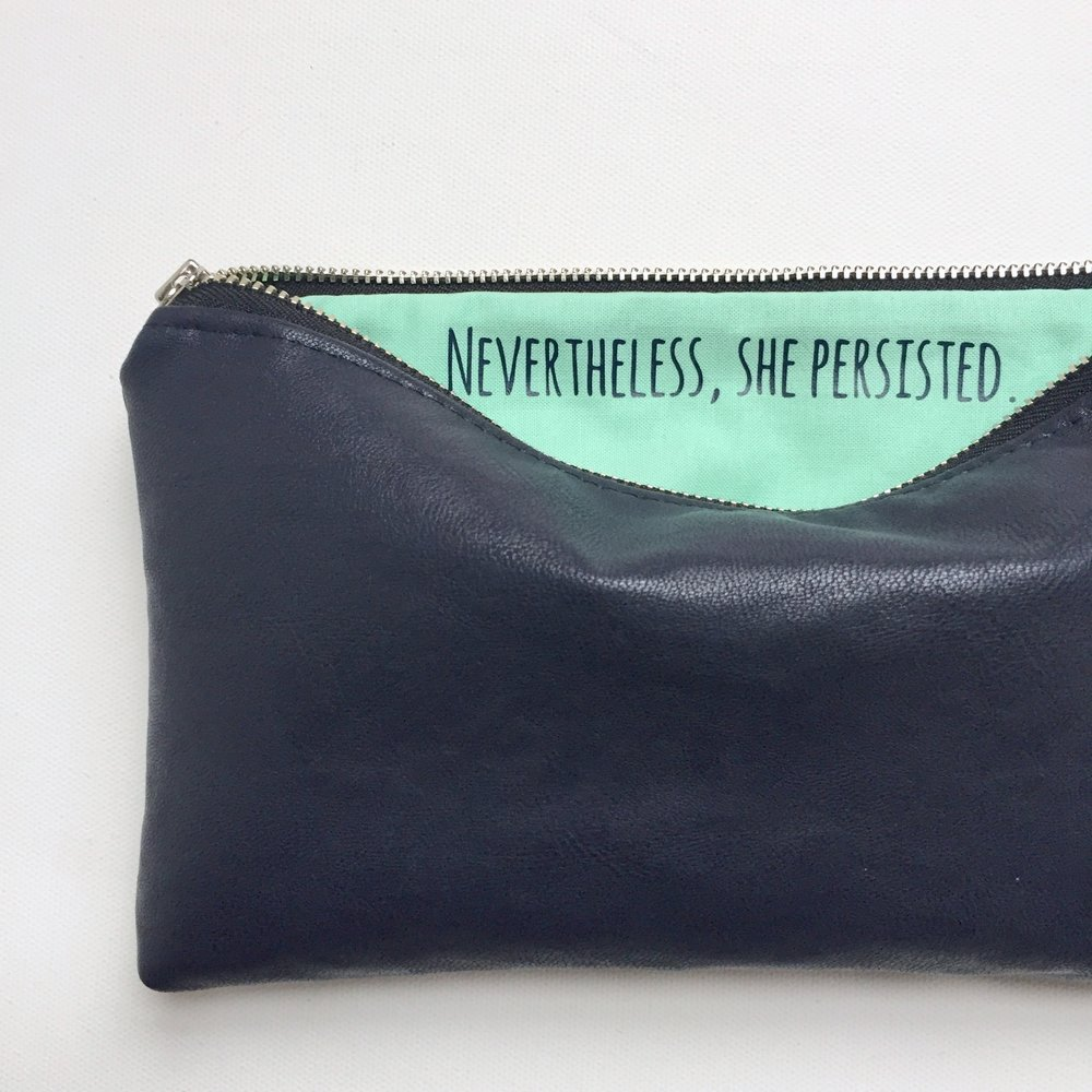 Navy Custom Zip Bag