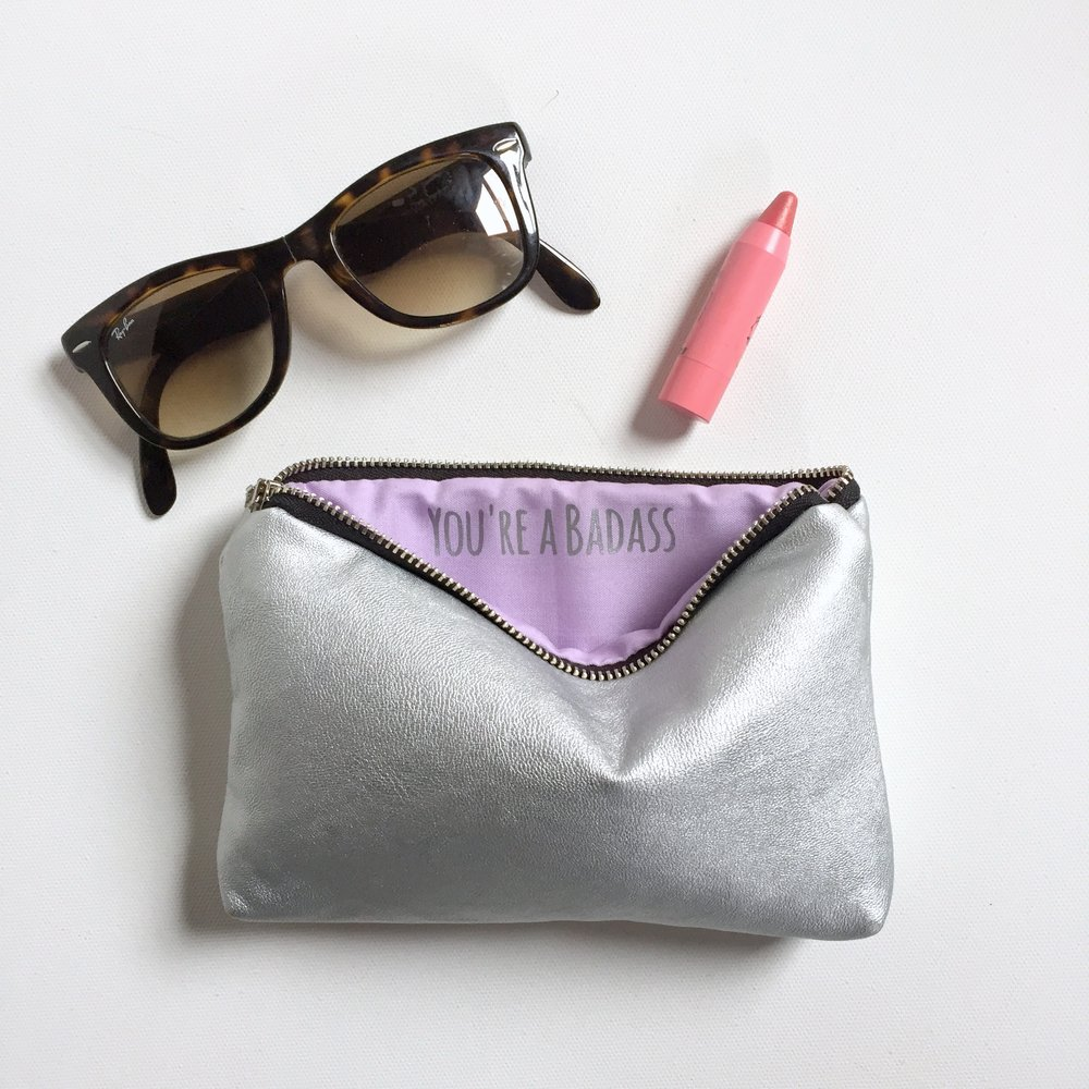 Silver Custom Message Bag