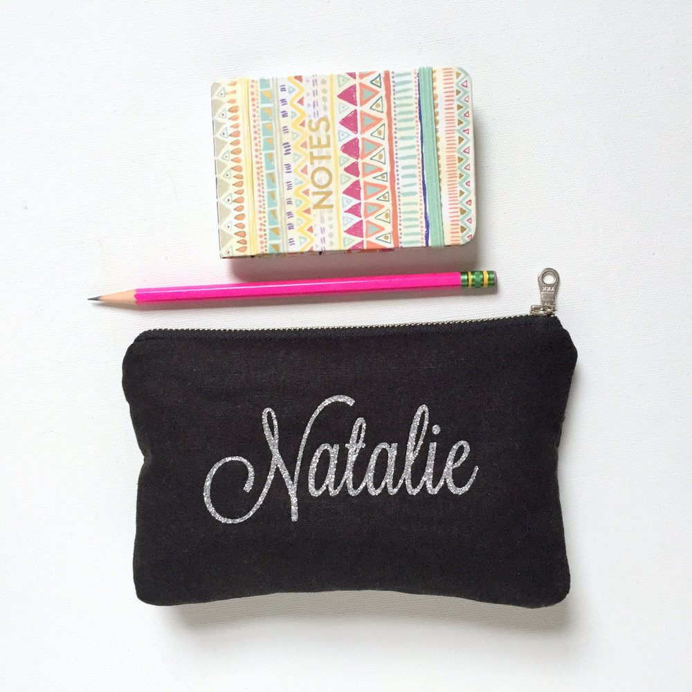 Personalized Cursive Name Bag