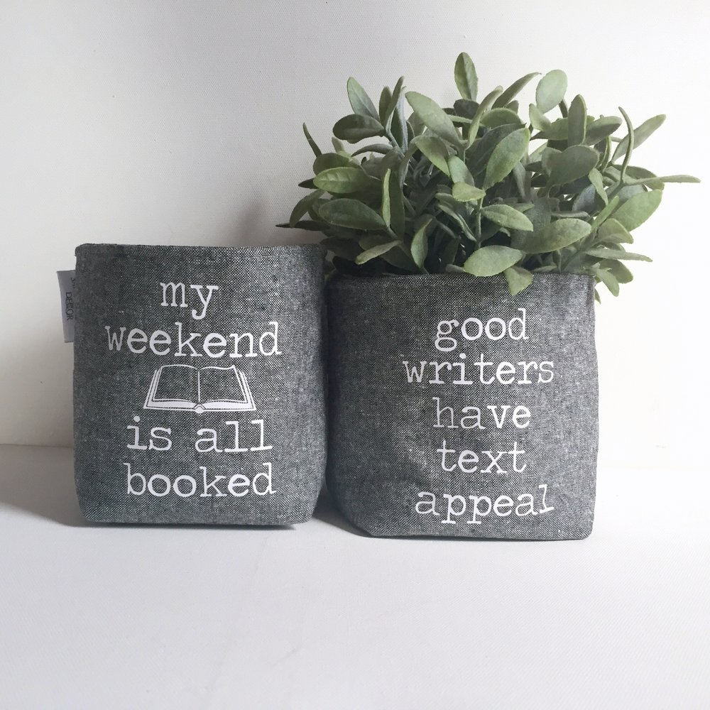 Readers & Writers Linen Baskets