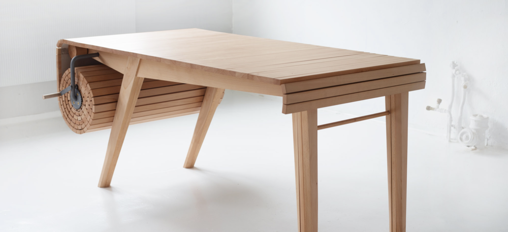 Roll-out table designed by  Marcus Voraa .