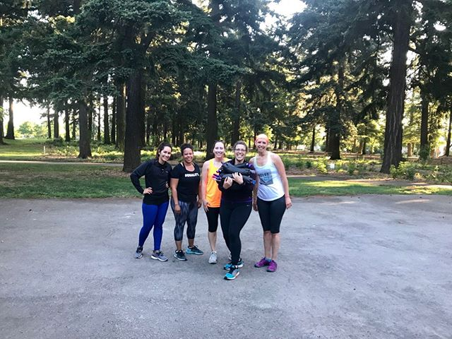 Sending this amazing woman off to her doctoral program with all the fitness sausages. @bethbarsotti has been an amazing part of our community, bringing her energy, warmth and enthusiasm to our 6am class. She's off to share her love of burpees with Boston College! We'll miss her greatly!  # # #portlandoutdoorfitness #bootcamp #community # #optoutside #everyonelovesburpees #functionalfitness #adventureculture #support #getoutside #findyourpark #strengthtraining #functionaltraining
