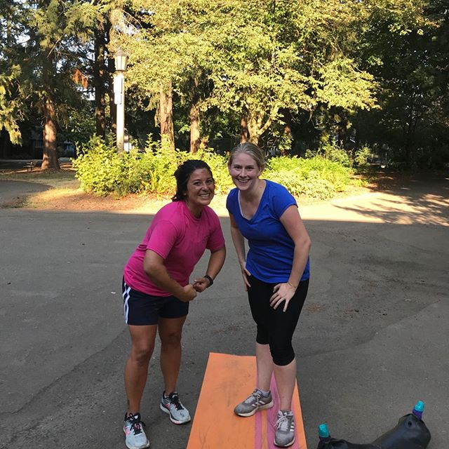 What are the odds?! These two awesome women shared a birthday (and a workout!) yesterday. Happy Birthday to Angie and Nicole! The positive energy, spunk and willingness to give it their all are something both of these women bring to the park and our community each day.  #portlandoutdoorfitness #bootcamp #functionalfitness #outdoorbootcamp #bodypositive #bodypositiveyoga #bodypositivebootcamp #outdooryoga # #functionaltraining #yogaoutside #yogaoutdoors #strengthtraining #strengthandconditioning #personaltraining #hiit #hiitworkout #portlandfitness #hiittraining
