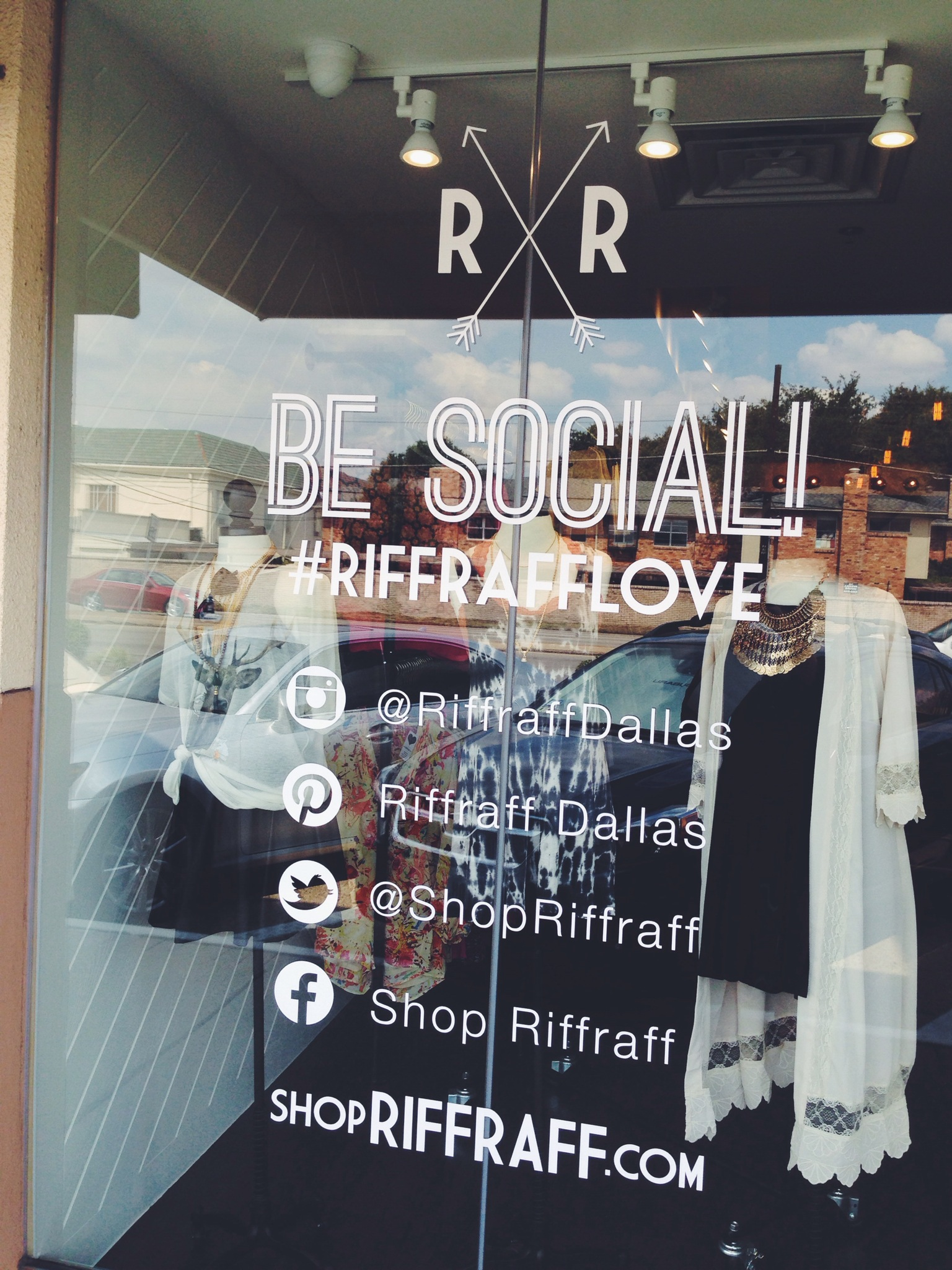 Be Social Window Cling