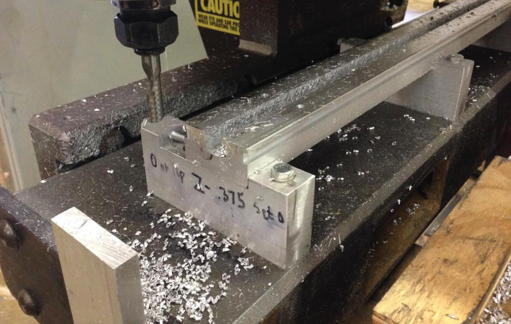 Retrofitted Digital Tool Meta Machine Cutting Aluminum