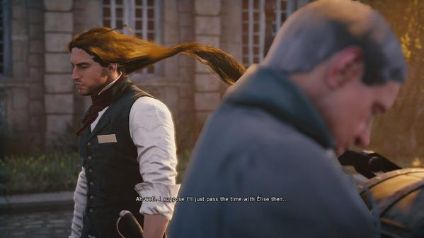 Assassin's Creed Hair glitch