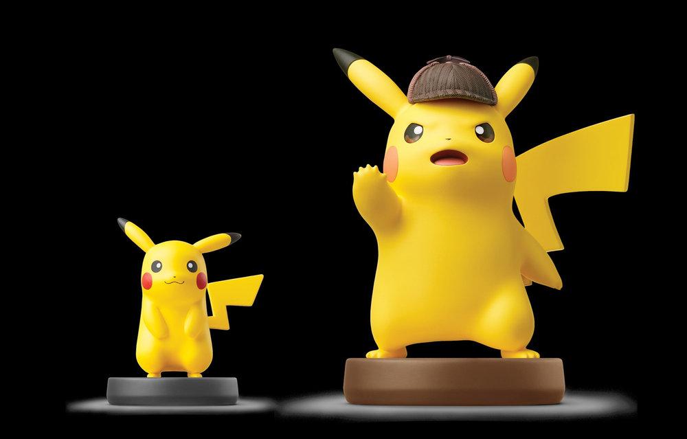 Detective Pikachu next to Detective pikachu