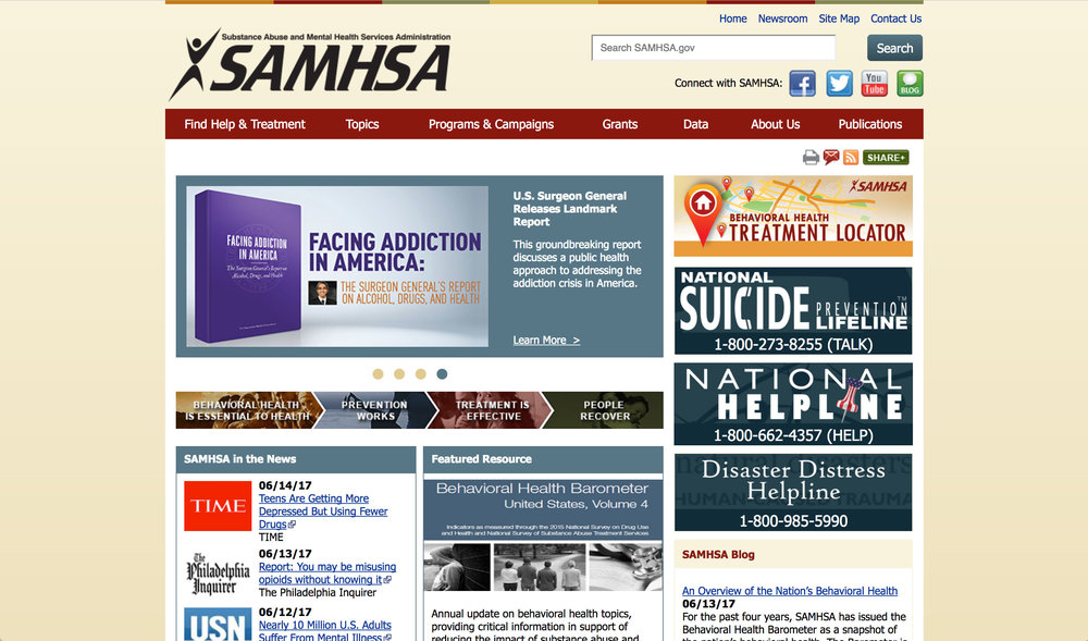 Substance Abuse and Mental Health Services Administration (SAMHSA) - The Substance Abuse and Mental Health Services Administration (SAMHSA) is the agency within the U.S. Department of Health and Human Services that leads public health efforts to advance the behavioral health of the nation. SAMHSA's mission is to reduce the impact of substance abuse and mental illness on America's communities.