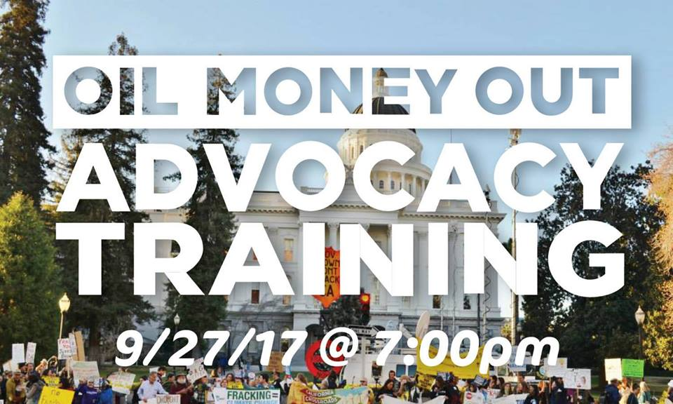 Become An Oil Money Out Advocate - On September 27th, we held an advocacy training live-stream to give people the tools they need to have effective meetings with their elected officials. Find out more here.