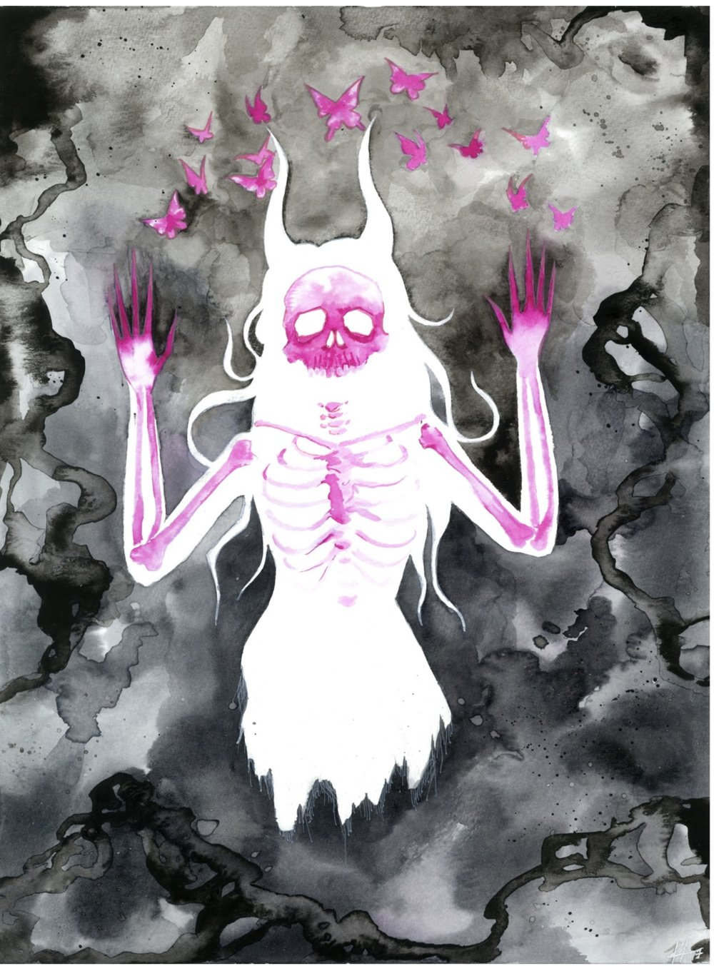 WAKE UP - WATER COLOR AND INK $165