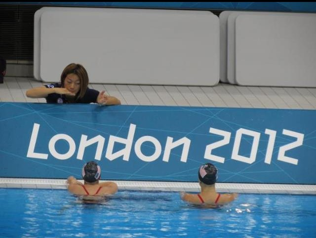 - Mayu coaching Mary and I at the 2012 Olympic Games