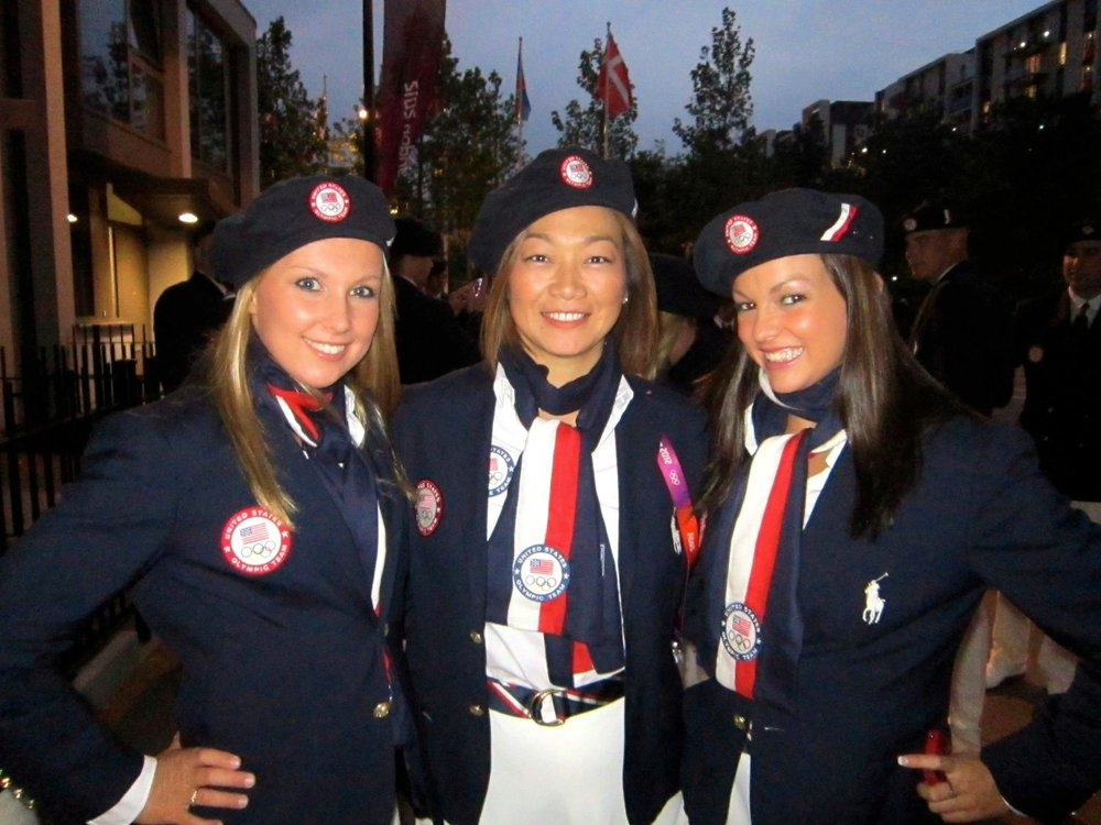 - Mayu, Mary and i at the Opening Ceremony at the 2012 Olympic Games