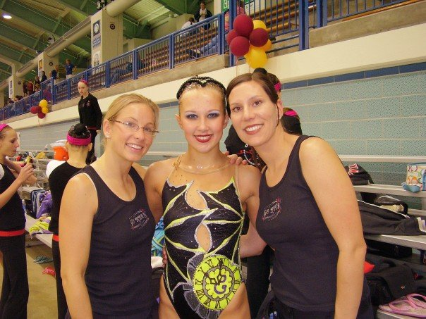 - Tammy (right), Tammy Crow Declerq (left) and I at my first Senior Nationals in 2006.