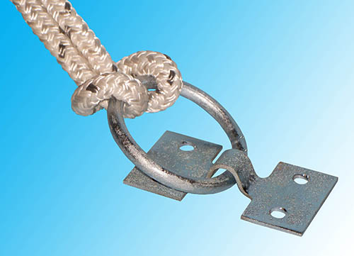 ZINC PLATED DOCK RING - • 2000 lb. Capacity (910 Kg)• Zinc plated steel will not rust or corrode• Ring Measures: 2-3/8