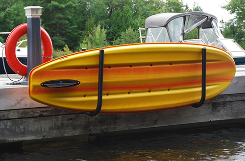KAYAK HOLDER - Easily mounts to your dock, deck, boathouse or any vertical surfaceSupports many times the weight of an average kayakPowder coated 1.5