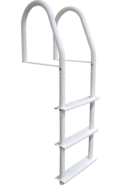 HOWELL™ GALVALUME™ FIXED - These bright white galvalume™ ladders will make a durable and attractive addition to your dock, seawall or any marine application. Heavy 1-1/2
