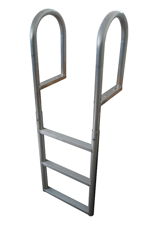 ALUMINUM FIXED - These durable ladders are ideal for sure-footed access to and from the water or boat and with a load capacity of 665 lb. these rugged ladders will stand the test of time. Perfect for seawalls or dock applications with varying water levels. Rail Height: 19-1/2
