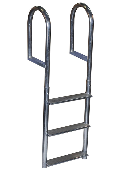 ALUMINUM FIXED - WIDE STEP - These wide step ladders have a 4
