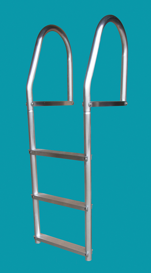 FIXED ECO - WELD FREE ALUMINUM - These durable ladders have been designed to make a minimum carbon footprint. It is manufactured with no welding processes involved. Easily assembled in a few minutes with stainless steel fasteners. Wider steps make for a sure grip and a safe climb.Rail Height: 18