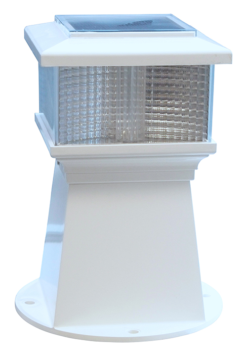 - • Ideal for docks, decks, walkways and driveway or slip entries• Attractive,functional & weatherproof, installs easily with no wires• Bright white LED / 360° illumination• Powerful solar charging performance with up to 10 hr run time• Attractive & rugged broad-based ABS pillar fits piling diameters 7