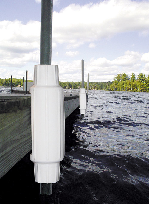 TORPEDO BUMPERS - These large, durable bumpers add an attractive and functionally rugged cushion to the leg pipes of your docking system. Fabricated from the same quality material as our Dolphin™ fenders, each weighs a rugged 2.7 lb. and measures 18