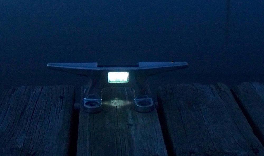 solar lights dock edge