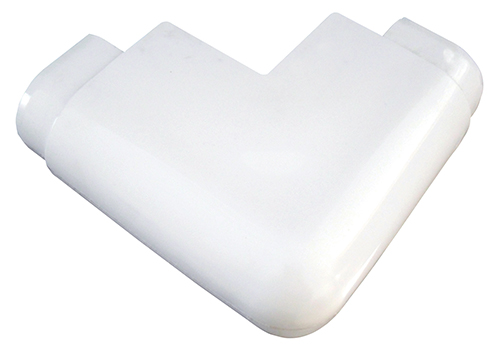 AIR CUSHION PREMIUM CORNERS - Connect AIR CUSHION Premium Corners at any outside 90 degree angle corner. Use with DockEdge+ Connectors, End Plugs and PVC solvent for AIR CUSHION System.Available in white and navy blue.