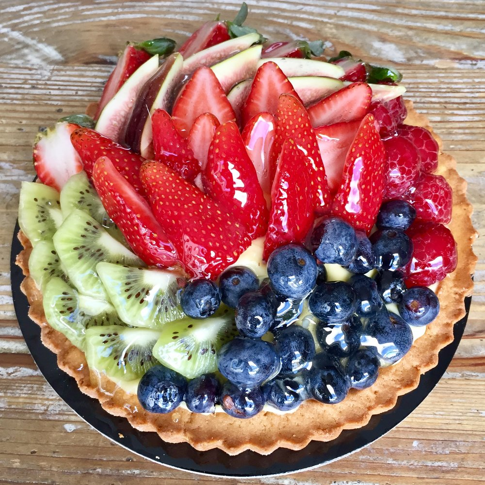 MIXED FRUIT FLAN -