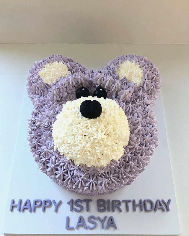 The Team at The Cake Shop Concord wish Lasya very Happy 1st Birthday. Contact us to make your little ones favourite cake today. #teddybear #birthday #cake