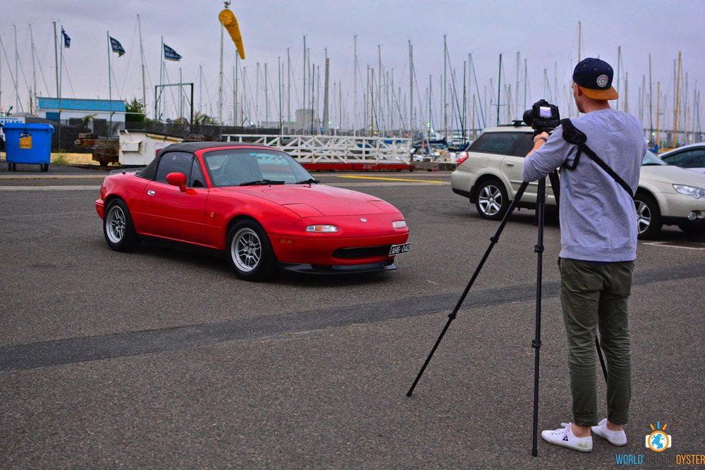 Shooting my MX-5 at a recent meet. Strategically parked away from other cars to reduce background clutter!