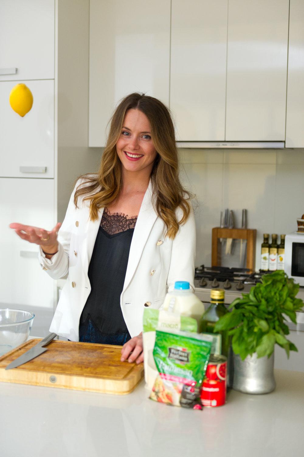 Beth herself tossing a lemon....