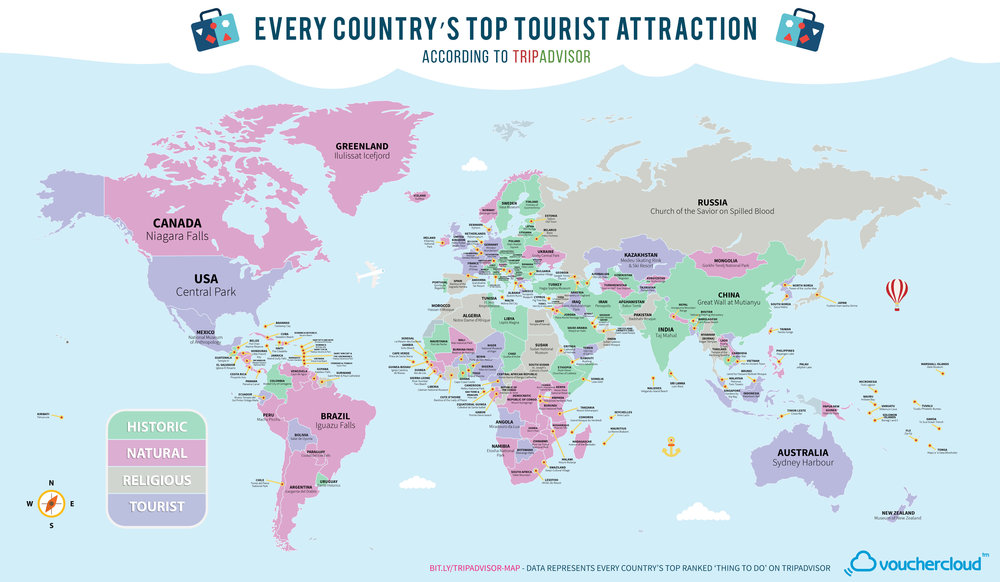 Every Country's Top Tourist Attraction