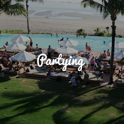Partying in Bali, Group Trips