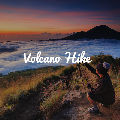 Hiking in an Active Volcano on our Group Trip to Bali