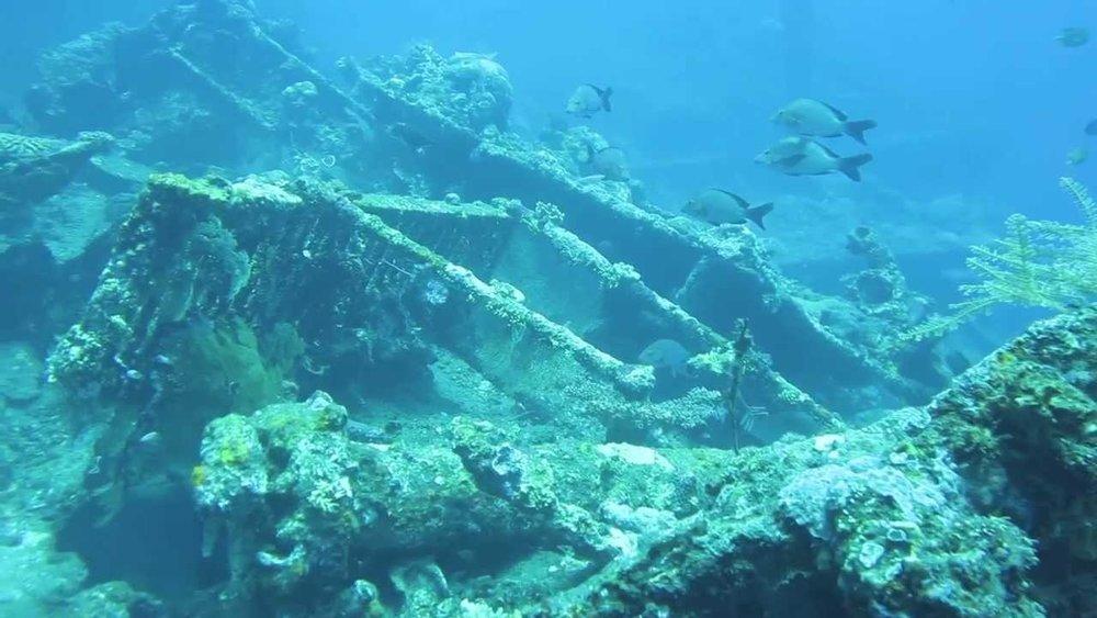 Scuba diving in Bali at Shipwreck