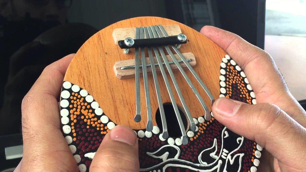 Balinese Music Instrument, Kalimba, during group trip