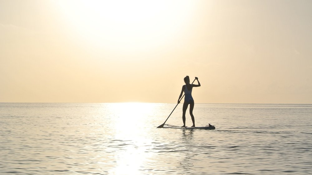 SUP paddle boarding in Bali