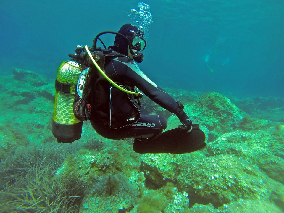 Scuba diving on group trip