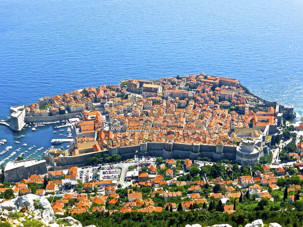 Aerial Views of Dubrovnik, Croatia